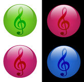 Music. Button illustration stock illustration