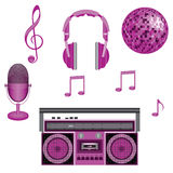 Music. Various objects that combines music Royalty Free Stock Photos