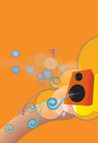 Music. A vector based picture about the feeling of music Royalty Free Stock Image