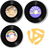 Music 45 RPM oldies rock Records Spindle Royalty Free Stock Photography