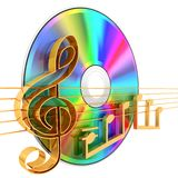 Music. CD . 3d rendered illustration Royalty Free Stock Photo