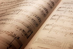 Music. Notes on brown background Royalty Free Stock Photo