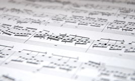 Music. Notes on white background Royalty Free Stock Images