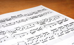 Music. Notes on the table Royalty Free Stock Photo