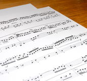 Music. Notes on white background Stock Image