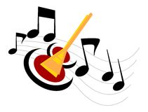 Music. Illustration for the Guitar with musical notes Royalty Free Illustration