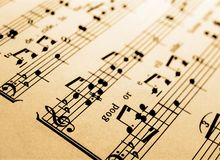 Music. Some sheet music abstract background stock photo
