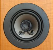 Music. Closeup of a loadspeaker element stock photo