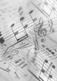 Music. A Photocomposition of musical notation, suitable for background Royalty Free Stock Image