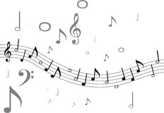 Music. Black and gray Vector Music theme Stock Photography