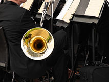 Music. Close up of an orchestra (musical instrument and player Stock Images