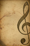 Music. Retro music background with clef Royalty Free Stock Image