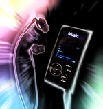 Music. Concept of music;funky mp4 player Stock Photo