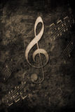 Music. Old music notes in retro design look Stock Image