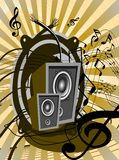 Music abstract background Royalty Free Stock Photography