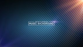 Music abstract background blue. Equalizer for music, showing sound waves with music waves, music background equalizer. Vector concept Royalty Free Stock Photography