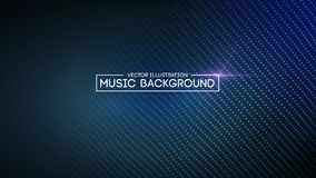 Music abstract background blue. Equalizer for music, showing sound waves with music waves, music background equalizer. Vector concept Royalty Free Stock Image