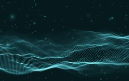 Music abstract background blue. Equalizer for music, showing sound waves with music waves, music background equalizer. Vector concept royalty free illustration