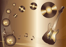 Music abstract background. With guitar stock illustration