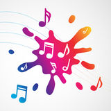 Music abstract colorful splash Royalty Free Stock Photo