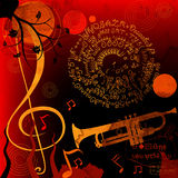 Music, abstract design Stock Image