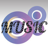 Music. Abstract music text on special background Stock Photo