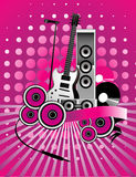 Music abstract vector Royalty Free Stock Photography