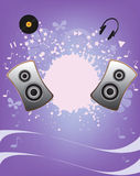 Music abstract vector background Royalty Free Stock Photos