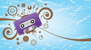 Music abstract vector background Stock Photos