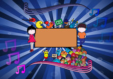 Music Addict Doodle Vector Royalty Free Stock Photography