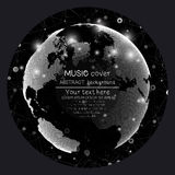 Music album cover templates. World globe, global Stock Photography