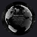 Music album cover templates. World globe, global Royalty Free Stock Photography