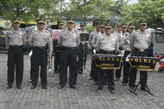 MUSIC ALERT SECURITY POLICE UNIT ELECTION Stock Photography