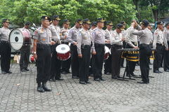 MUSIC ALERT SECURITY POLICE UNIT ELECTION Stock Photos