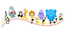 Music and animal vector illustration