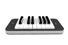 Music App Concept. Piano Keys Over Mobile Phone Stock Photography
