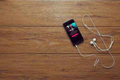 Music app Stock Photography