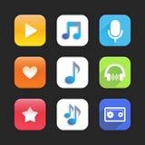 Music app Stock Image