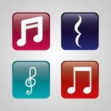 Music art  graphic design Stock Image