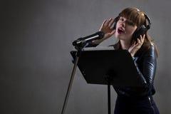 Music Artist Singing Royalty Free Stock Images