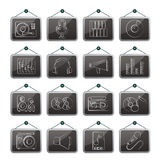 Music and audio equipment icons Royalty Free Stock Photo