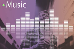Music Audio Melody Wave Graphic Concept Royalty Free Stock Photo