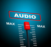 Music Audio Represents Sound Track And Technology Royalty Free Stock Photos