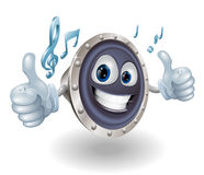 Music audio speaker character Royalty Free Stock Images