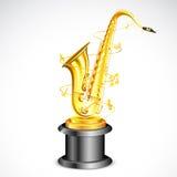Music Award. Illustration of gold saxophone as music award Stock Photo