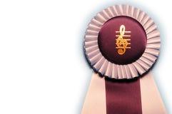 Music Award. Winner ribbon on isolated white stock image