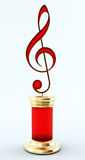 Music Award Treble Clef Royalty Free Stock Images