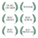 Music Awards Winners 1 Royalty Free Stock Images
