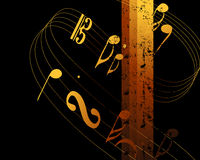 Music Background 06. Music Background, harmoy between music and color Royalty Free Stock Images