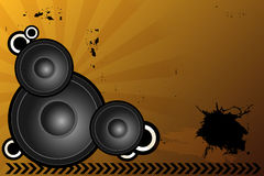 Music background. Illustration of a grunge music background with speakers,useful also as poster.EPS file available Stock Photography
